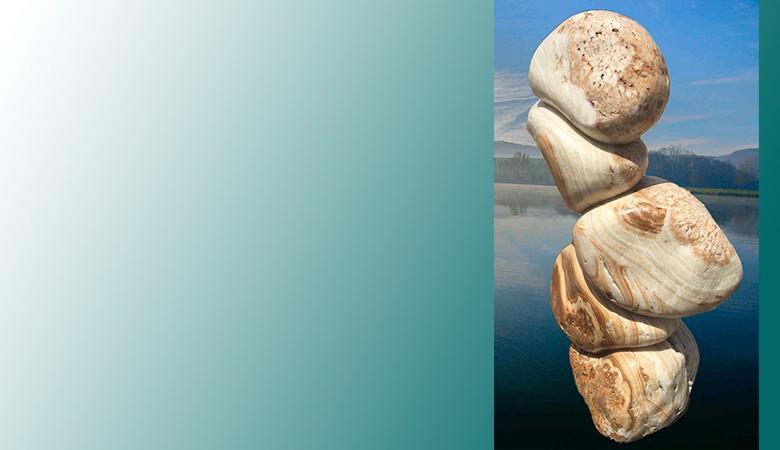 Ozean Findling Skulptur Nr. 3141
