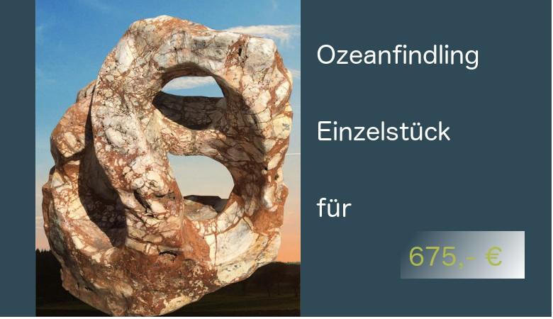 Ozean Findling - Showstein - Gartenstein - 675